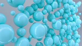 Μπλε σφαίρες του τυχαίου μεγέθους στο άσπρο υπόβαθρο Ελεύθερη απεικόνιση δικαιώματος