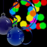 Μπλε σφαίρες Χριστουγέννων ελεύθερη απεικόνιση δικαιώματος
