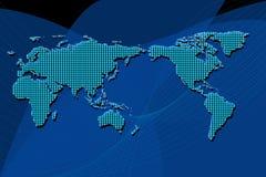 μπλε σφαιρικός ανασκόπησ&e Στοκ Εικόνα