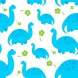 μπλε σχέδιο δεινοσαύρων κινούμενων σχεδίων Στοκ Εικόνες