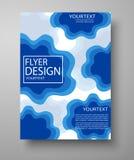 Μπλε σχέδιο ιπτάμενων για την επιχείρηση, εκπαίδευση, παρουσίαση, ιστοχώρος, κάλυψη περιοδικών Στοκ εικόνα με δικαίωμα ελεύθερης χρήσης