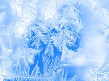 Μπλε σχέδιο στο παράθυρο Στοκ εικόνα με δικαίωμα ελεύθερης χρήσης