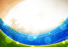 μπλε σχέδιο Χριστουγένν&omega διανυσματική απεικόνιση