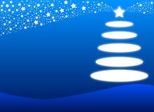 μπλε σχέδιο Χριστουγένν&omega Στοκ Φωτογραφίες