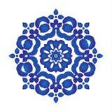 Μπλε σχέδιο mandala Στοκ Εικόνες