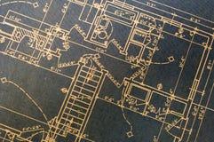 μπλε σχεδιαγράμματα Στοκ φωτογραφία με δικαίωμα ελεύθερης χρήσης
