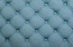 Μπλε σχηματισμένη τούφες capitone σύσταση ταπετσαριών υφάσματος Στοκ εικόνες με δικαίωμα ελεύθερης χρήσης