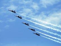 μπλε σχηματισμός αγγέλων Στοκ Φωτογραφία
