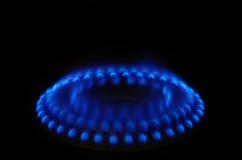 μπλε σόμπα αερίου φλογών Στοκ φωτογραφία με δικαίωμα ελεύθερης χρήσης