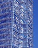 μπλε σύγχρονες δομές Στοκ Εικόνες