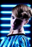 μπλε σύγχρονο πορτρέτο αν& Στοκ Εικόνα