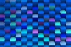 Μπλε σύνθεση με την τρισδιάστατη ανάπτυξη κύβων Στοκ φωτογραφίες με δικαίωμα ελεύθερης χρήσης