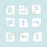 μπλε σύνολο εγγράφου εικονιδίων ανασκόπησης ελεύθερη απεικόνιση δικαιώματος