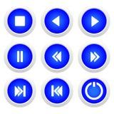 μπλε σύνολο μουσικής κ&omicr Στοκ φωτογραφία με δικαίωμα ελεύθερης χρήσης