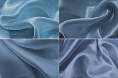 Μπλε σύστασης σατέν Στοκ Εικόνες