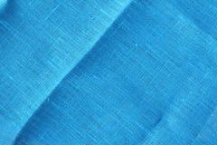 μπλε σύσταση λινού Στοκ εικόνα με δικαίωμα ελεύθερης χρήσης