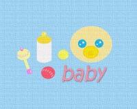 μπλε σύσταση μωρών Στοκ Εικόνες