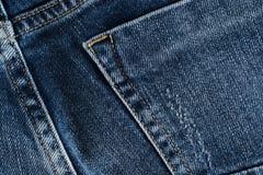 μπλε σύσταση τζιν τζιν πίσω τσέπη τζιν ανασκόπησης Στοκ εικόνα με δικαίωμα ελεύθερης χρήσης