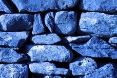Μπλε σύσταση φύσης φρακτών τοίχων του ξηρού Stone Στοκ Εικόνα