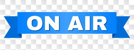 Μπλε ταινία με στον τίτλο AIR ελεύθερη απεικόνιση δικαιώματος