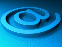 μπλε ταχυδρομείο ε sighn διανυσματική απεικόνιση