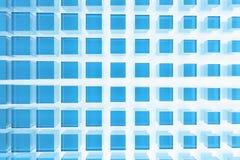 μπλε τετράγωνα γυαλιού Στοκ φωτογραφία με δικαίωμα ελεύθερης χρήσης