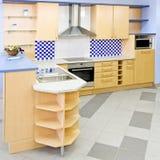 μπλε τετράγωνο κουζινών στοκ φωτογραφία