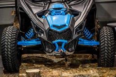 Μπλε τετράγωνο buggie στοκ εικόνες