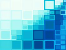 Μπλε τετραγωνικά υπόβαθρα στοκ εικόνα