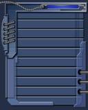 μπλε τεχνολογία ανασκόπησης Διανυσματική απεικόνιση