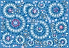 μπλε τοίχος λουλουδιώ Στοκ εικόνα με δικαίωμα ελεύθερης χρήσης