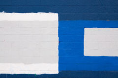 μπλε τοίχος μπαλωμάτων Στοκ Φωτογραφίες