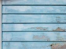 μπλε τοίχος ξύλινος Στοκ φωτογραφίες με δικαίωμα ελεύθερης χρήσης
