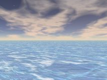 μπλε τοπίο Στοκ εικόνα με δικαίωμα ελεύθερης χρήσης