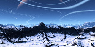 μπλε τοπίο Στοκ Εικόνα