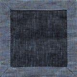 Μπλε τοπ άποψη υποβάθρου πετσετών λινού Στοκ εικόνα με δικαίωμα ελεύθερης χρήσης