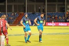 Μπλε του Ώκλαντ εναντίον των κοκκίνων του Queensland που παίζουν στη Σαμόα Στοκ φωτογραφία με δικαίωμα ελεύθερης χρήσης