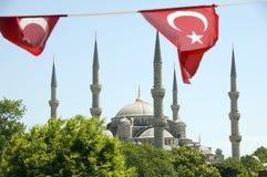 μπλε Τούρκος μουσουλμ Στοκ Εικόνες