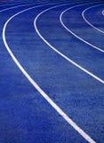 μπλε τρέχοντας διαδρομή Στοκ Εικόνες