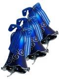 μπλε τρία κουδουνιών Στοκ εικόνες με δικαίωμα ελεύθερης χρήσης