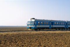 μπλε τραίνο Στοκ Εικόνες