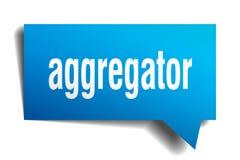 Μπλε τρισδιάστατη λεκτική φυσαλίδα Aggregator Διανυσματική απεικόνιση