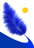 μπλε τρόπος φτερών s ελεύθερη απεικόνιση δικαιώματος