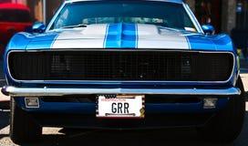 μπλε τρύγος μυών αυτοκινή& Στοκ Φωτογραφίες