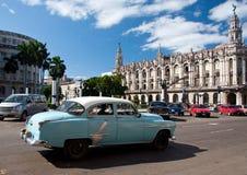 μπλε τρύγος της Αβάνας αυτοκινήτων Στοκ Φωτογραφίες
