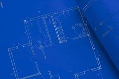 μπλε τυπωμένη ύλη Στοκ Φωτογραφία