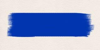 Μπλε υδατόχρωμα βουρτσών χρωμάτων κτυπήματος στοκ φωτογραφίες