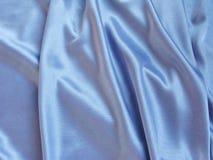 μπλε υλικό σατέν Στοκ Εικόνες