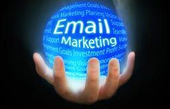Μπλε υποβάθρου σφαιρών μάρκετινγκ ηλεκτρονικού ταχυδρομείου Στοκ φωτογραφίες με δικαίωμα ελεύθερης χρήσης