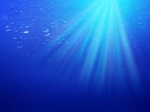 μπλε υποβρύχιος ανασκόπ&eta Στοκ εικόνες με δικαίωμα ελεύθερης χρήσης
